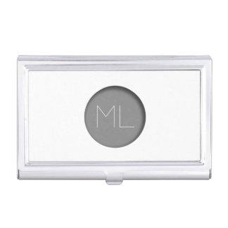 Minimalist Monogram Business Card Holder Circle