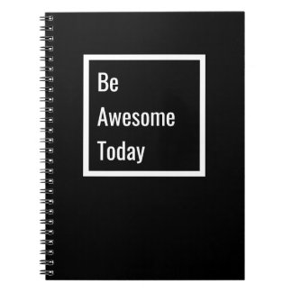 Minimalist Motivational Black & White Notebook