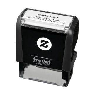 minimalist names with address self-inking stamp