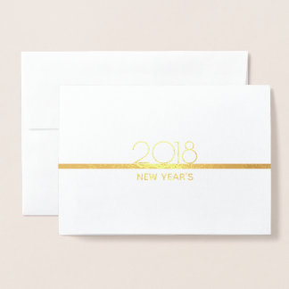 Minimalist New Years Celebration | Gold Foil Card