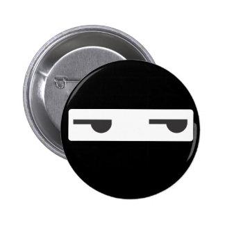 minimalist ninja pinback buttons