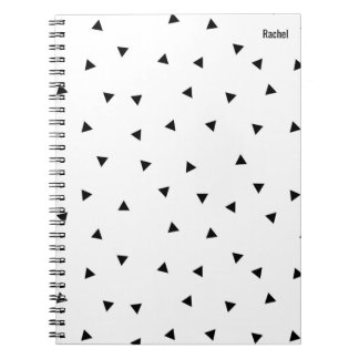 Minimalist Notebook With Triangle Pattern
