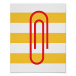Minimalist paperclip poster