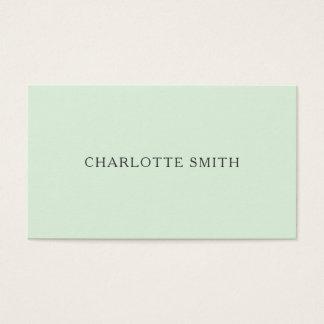 Minimalist pastel green modern business card