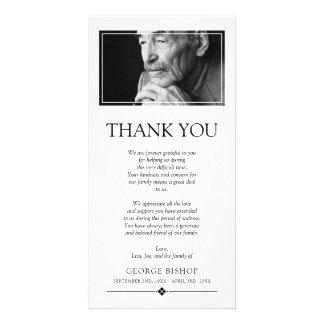 Minimalist Photo   Sympathy Thank You Card