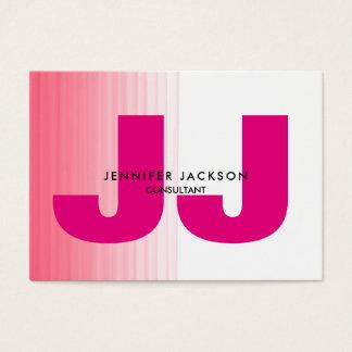 Minimalist Pink White Monogram Trendy Modern