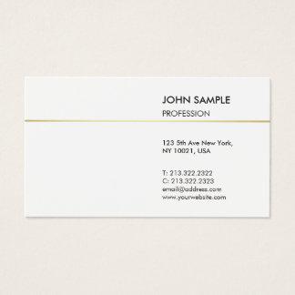 Minimalist Plain Modern Professional Elegant White Business Card