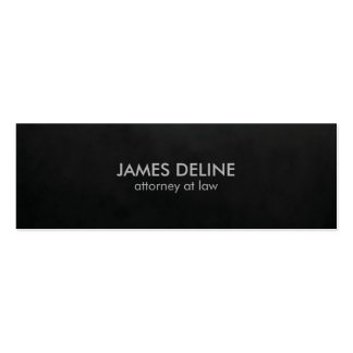 Minimalist Plain Texture Black Attorney Pack Of Skinny Business Cards