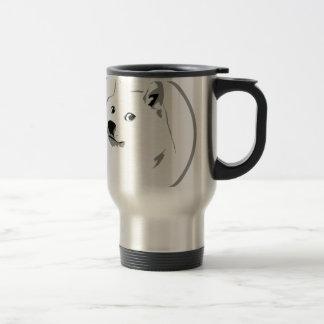 Minimalist portable dogecoin water bowl stainless steel travel mug