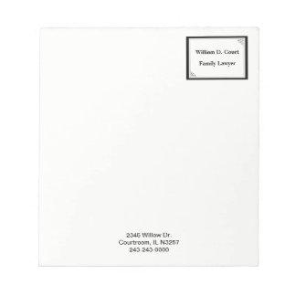 Minimalist Professional Black Dot Frame Business Notepad