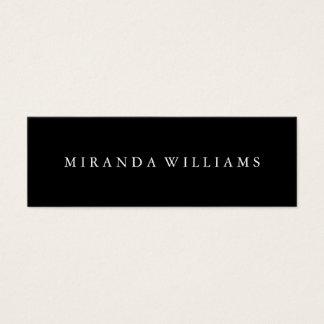 Minimalist Professional Elegant Black Mini Business Card