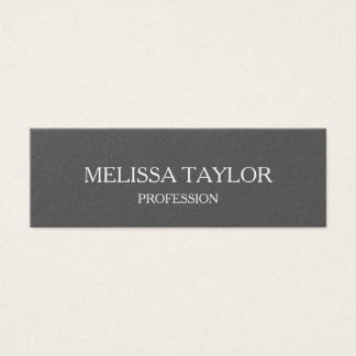 Minimalist professional grey business card
