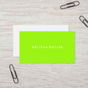 Lime green business cards zazzle au minimalist professional lime green business card reheart Gallery