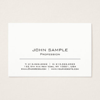 Minimalist Professional Modern White and Grey Business Card
