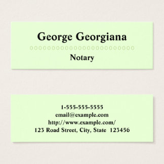 Minimalist & Professional Notary Business Card