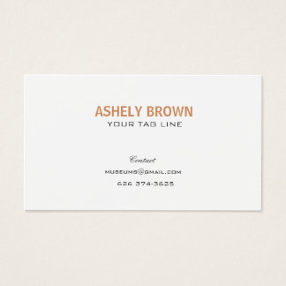 Minimalist Professional Pearl White Business Card