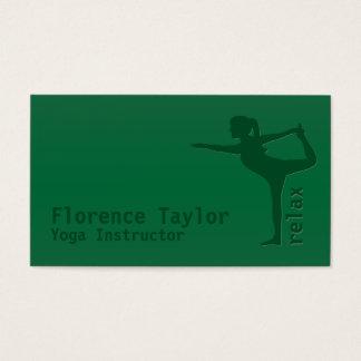 Minimalist Relax Green Yoga Instructor Business Card