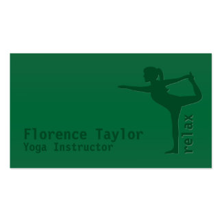 Minimalist Relax Green Yoga Instructor Pack Of Standard Business Cards