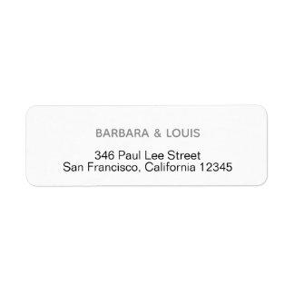 minimalist return address label
