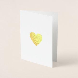 minimalist romantic love heart foil card