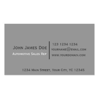 Minimalist Sagacity Trendy Black Gray Modern Pack Of Standard Business Cards