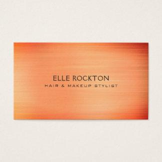 Minimalist Sangria Sunset Orange Business Card