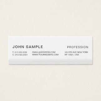 Minimalist Simple Modern Professional Elegant Grey Mini Business Card