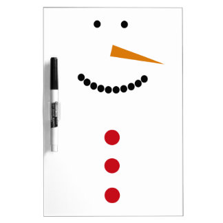Minimalist Snowman Dry Erase Board