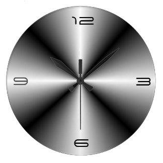 Minimalist Stainless Steel Look>Wall Clock