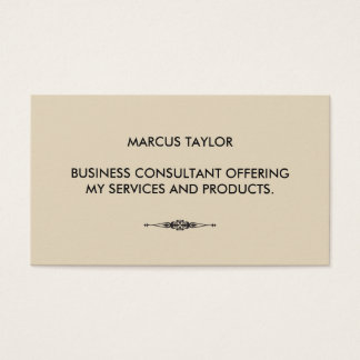 Minimalist Textual with Embellished Element Business Card