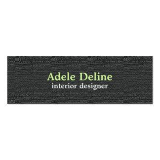 Minimalist Textured Dark Grey Interior Designer Pack Of Skinny Business Cards