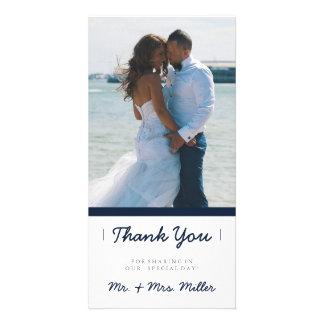 Minimalist Thank You | WEDDINGS Customised Photo Card