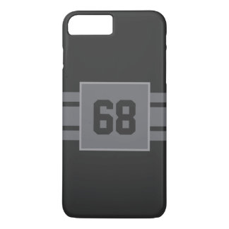 Minimalist three stripes classic gray and silver iPhone 7 plus case