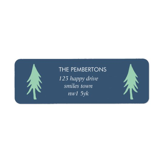 Minimalist Tree Holiday Stamp Return Address Label