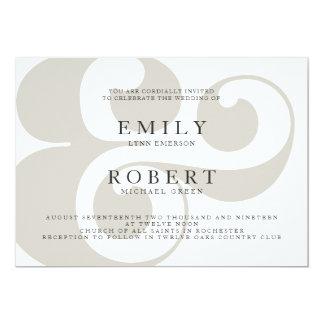 Minimalist Trendy Wedding Invitation - Ampersand