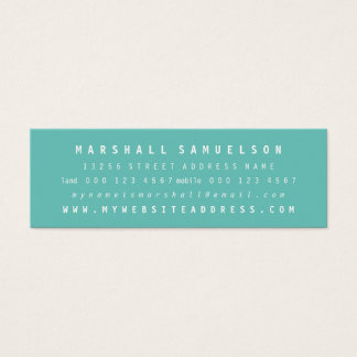 Minimalist Two Color Professional Skinny Cards