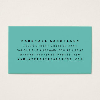 Minimalist Two Colour Professional Business Cards