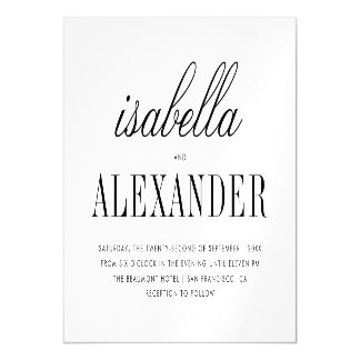 Minimalist Typography | Modern Wedding Magnetic Card