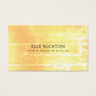 Minimalist Vendredi Yellow Brick Light Business Card