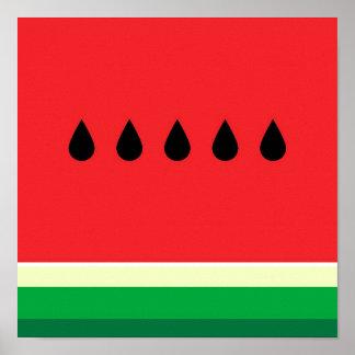 Minimalist Watermelon Poster