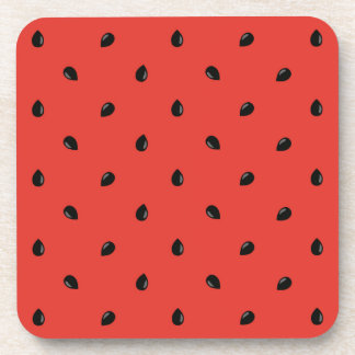 Minimalist Watermelon Seed Pattern Coaster