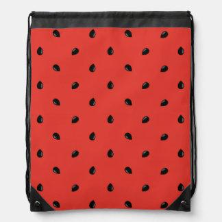 Minimalist Watermelon Seed Pattern Drawstring Bag