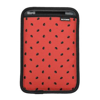 Minimalist Watermelon Seed Pattern iPad Mini Sleeve