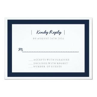 Minimalist Wedding RSVP | WEDDINGS 9 Cm X 13 Cm Invitation Card