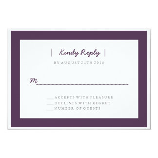 Minimalist Wedding RSVP | WEDDINGS 9 Cm X 13 Cm Invitation Card