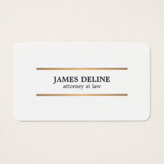 Minimalist White Copper Lines Attorney at law Business Card