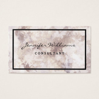 Minimalist White Marble Business Card
