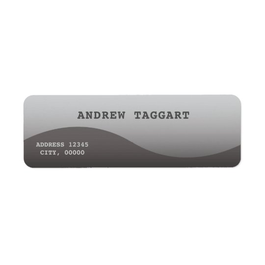 Minimalist  with simple grey design return address label