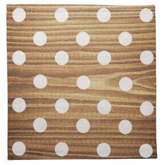 Minimalist wood polka dots. napkin