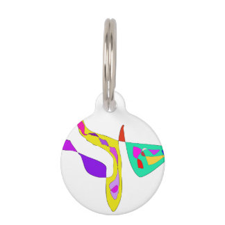 Minimalistic Abstract Fauvism Pet ID Tag